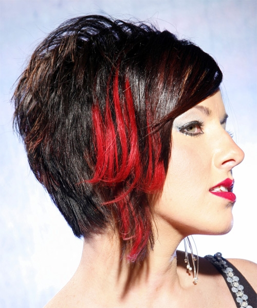 Amazoncom Dark Brown Hair with Red Highlights