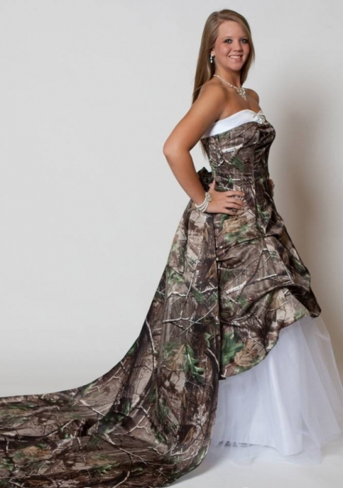 camo wedding dress cheap