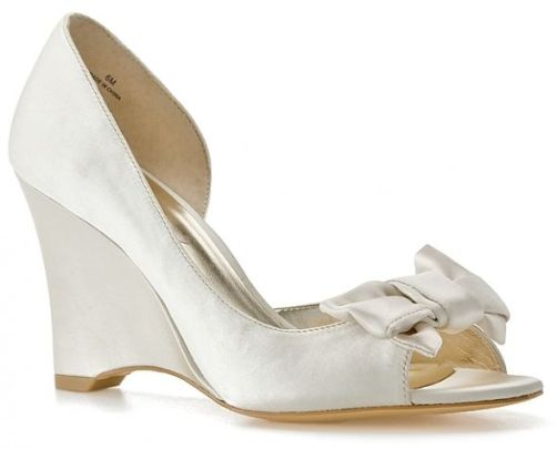 comfotable bridal shoes wedges