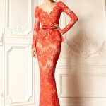 long lace dress red uk