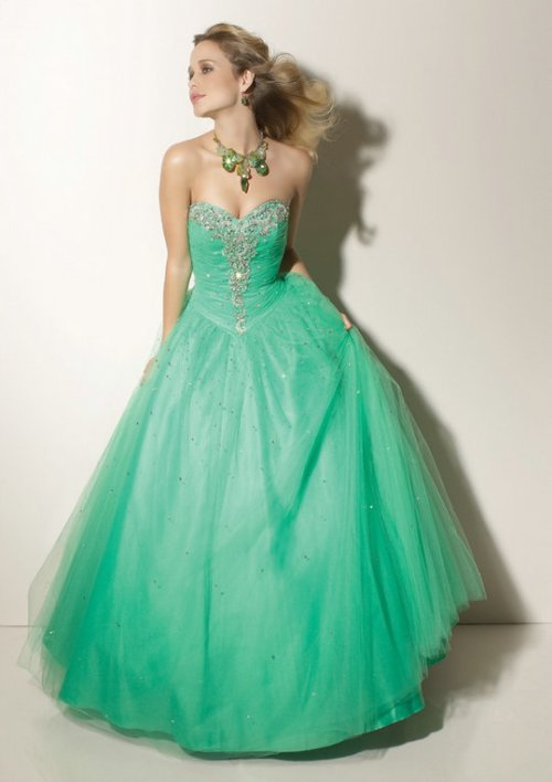 long puffy prom dresses 2012