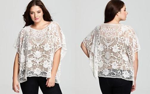 plus size lace tops for women