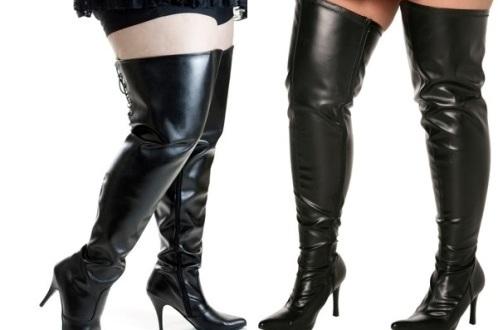 plus size thigh high boots cheap