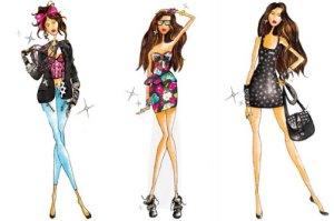 short Gown sketches design