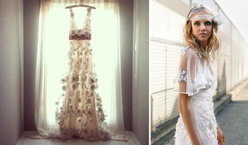 Wedding dress bohemian chic for Wedding dresses bohemian style
