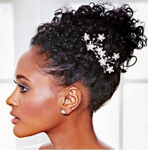 wedding updos black women 2013