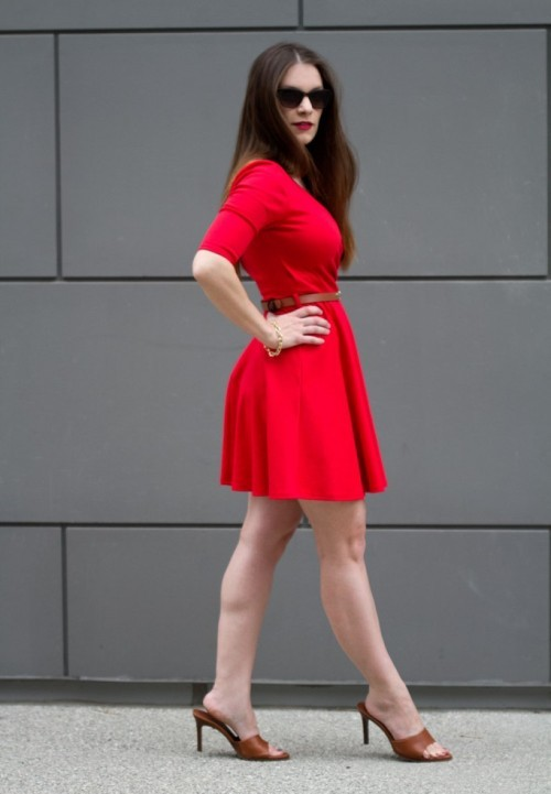 what shoes to wear with red dress 2013