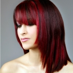 red hair with highlights pictures
