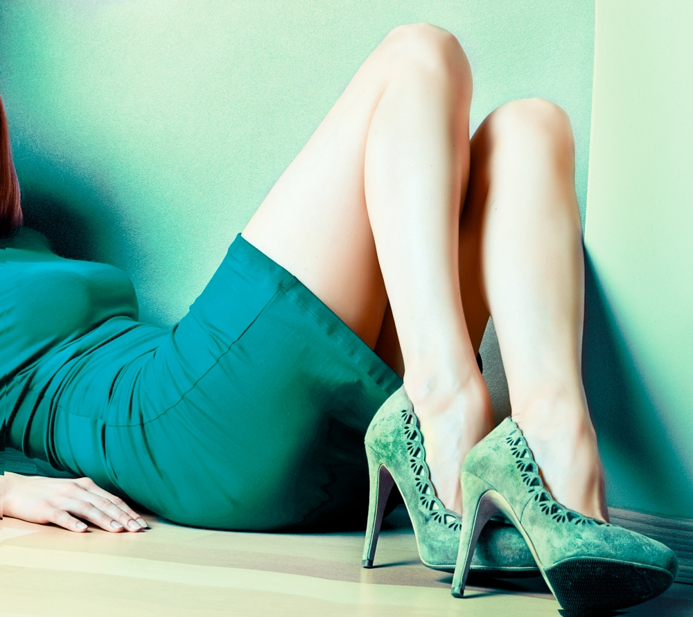 stunning teal shoes